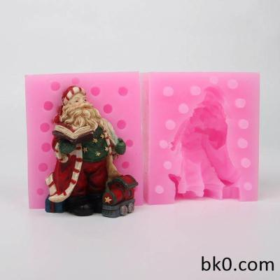 3D Santa Claus Christmas Mold Silicone Soap Mold Concrete Molds WC014