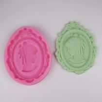 BG002 Photo Frame Woman Head Silicone Mold Cake Mold Silicone Baking Tool Accessories Diy Kitchen Tools