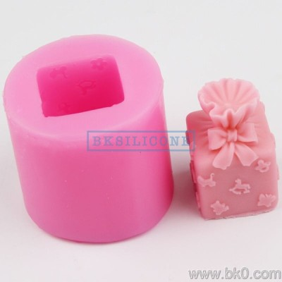 BH016 gift box silicone mold soap molds Cake Decorating Tools Moulds Direct Selling