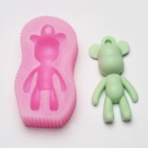 BA025 Bear Silicone Mold Cake Decoration Tools Cake Molds Soap Chocolate Mould