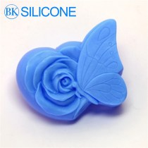Butterfly Flower Rose Handmade Soap Silicone Mold , Silica Gel Mould,Silicon Candle Moulds AJ012