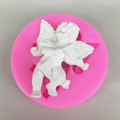BK1080 Angel Baby With Violin Shape Silicone Cake Mold Chocolate Cupcake Fondant Cake Decorating Tools