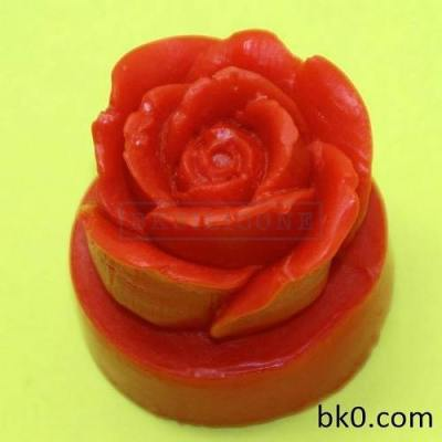 3d Rose Candle Soap Cake Cookie Mold Silicone Molds AC012