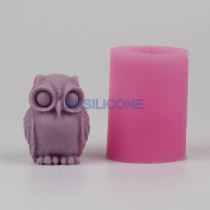 BK016 owl 3D silicone mold for soap and candles making animal mould Diy Craft Molds