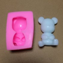 BM004 Cute Bear Shape Chocolate Candy Silicone Mold Cartoon Cake Tools Soap Mold Craft Cake Decoration