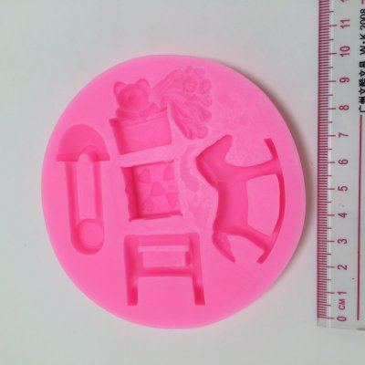 T1009 Trojan Baby series silicone molds bear fondant cake molds