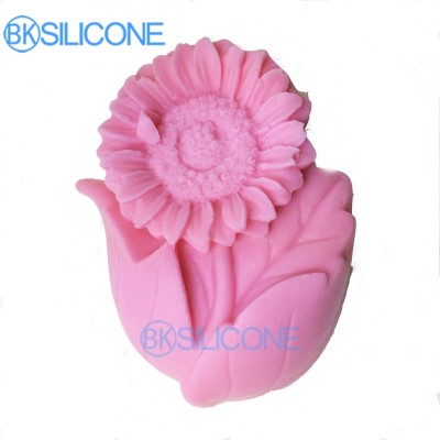 3D Sunflower Cake Mold Silicone Fondant Chocolate Soap Craft Mould Cake Decoration Tools Baking Supplies AO022