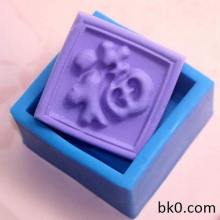 China'S Blessing Square Silicone Soap Mold Cake Decorating Tools Silicon Cake Mould AE003
