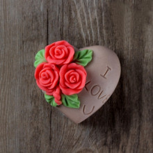Heart Shaped Rose Silicone Soap Molds Chocolate Cookie Mould Cake Decorating Tools AF004