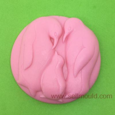 Silicone Soap Mold Penguin Family Shape Fondant Cake Chocolate Clay Mould Wholesale Mould Tools Love AV005