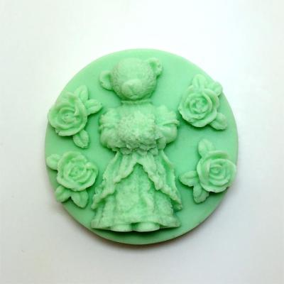 Bear Silicone Soap Mold Rose Craft Molds Girl Diy Handmade Moulds AM012