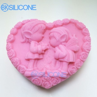 Boy And Girl Silicone Mold Wedding Baking Tools For Cakes Heart Molds AO019