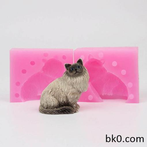 3D Lovely Cat Soap Mould Silicone Candle Resin Molds Cake decoration Mold WE005