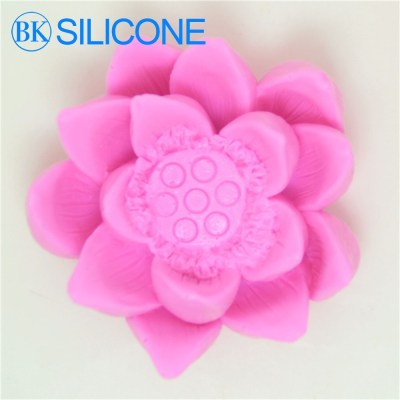 New Lotus Breast Milk Soap Candle Mold Silicone Cake Mold Bakeware Cooking Decoration Cake Tools AI017
