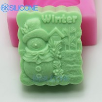 Soap Molds Cake Decorating Wave-Shaped Mold Snowman Mould Winter AP009