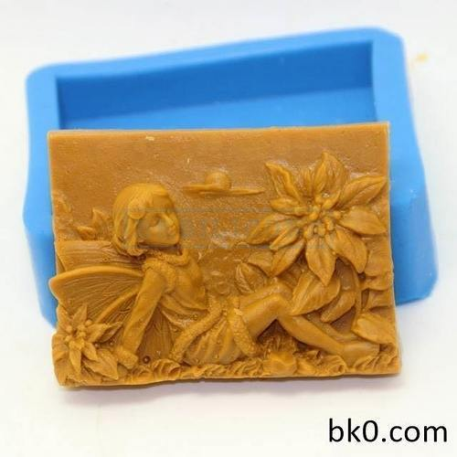 Flower Fairy Silicone Molds Angel Soap Cake Mould AA003