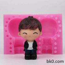 3D Boy Silicone Molds Soap Cake Moulds Resin Mold WD011