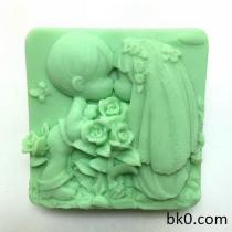 New Wedding Soap Silicone Mold Boy Girl Dress Couple Cake Decorating Molds Kiss Mould Rose AL019