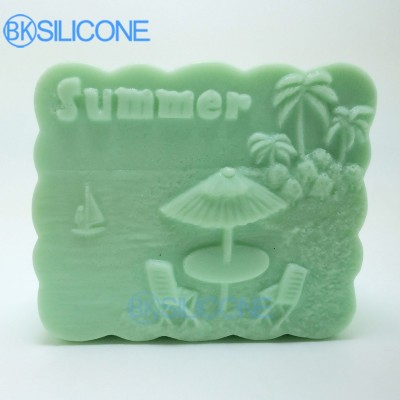 Sea Silicone Soap Molds Summer Wave-Shaped Mold AP007