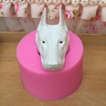 BK1123 Doberman Dog Silicone Mold Animal Candle Molds Aromatherapy Plaster 3D Decorative Car Dog Head Mould Aroma Stone Moulds