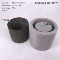 BK2009 clear water concrete flower pot mold cement fleshy circular flowerpot silica gel mold sell well