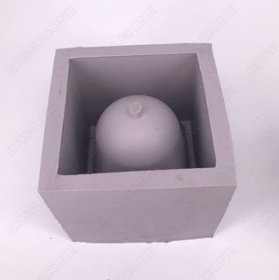 BK2002 fair faced concrete pot desktop pallet cement sink tray silicone mold