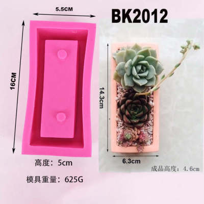 new product clear water concrete concrete flowerpot silicone mold I love you series IOU