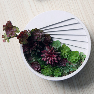 BK2023 Small House Staircase Cement Flower Basin Silicone Mould Nordic Step Flower Body Vase Model
