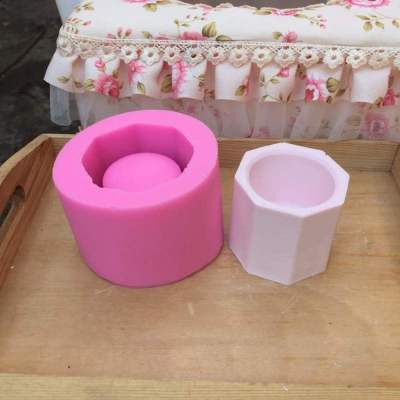 BK1142 Mini Vase Mould Stereo DIY Concrete Silicone Mold Gypsum Vase Mold Succulents Plants Flower Pot Silica Gel Mold