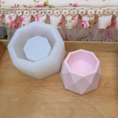 BK1130 Modern Silicone Mold 3D Handmade DIY Art Craft Flower Pot Concrete Mould