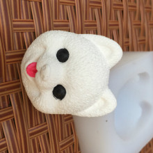 BK1126 Dog Head Aromatherapy Silicone Soap Mold Clay Plaster Candle Mold Silicone Cake Mold
