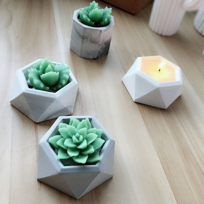 concrete Flowerpot silicone mold Cake Mold Chocolate Gypsum Candle Soap Candy Mold
