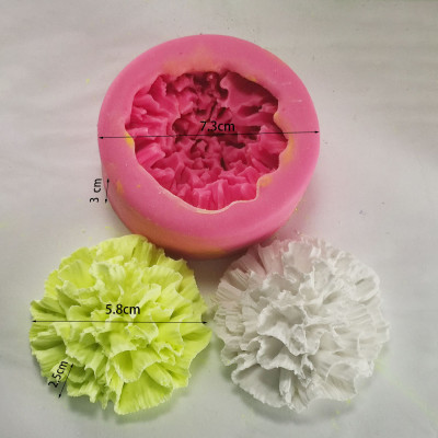 Aromatherapy gypsum mould diy carnation flowers mold