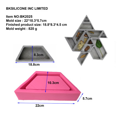 trapezoidal concrete triangle die mold creative Nordic flower implement composite cement flowerpot