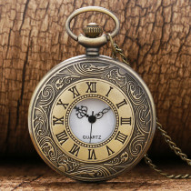 Antique Pocket Watches for Men Roman Number Necklace Pocket Watch Gift