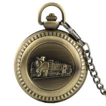 Men's Pocket Watch Running Steam Train Pocket Watch Gift Pendant Unisex