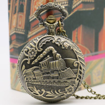 Antique Pocket Watch 3D Train Design Pocket Watch Gift Men watches