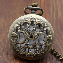 Antique DAD Pocket Watch Hollow Design Gift for Men Father