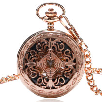 Men's Pocket Watch, Classics Mechanical Hand Wind Pocket Watch Chain with Roman Number Watch, Gift for Men
