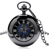 Men's Pocket Watch, Luxury Roman Numerals Dial Mechanical Round Pocket Watch Pendant, Gift for Men
