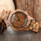 Hollow Wooden Watch, Modern Men Bamboo Nature Full Wood Strap Quartz Wristwatch, Bamboo Wristwatch Bracelet