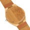 Men's Wood Watch, Bamboo Wooden Wrist Watch Natural Handmade, Bamboo Wristwatch Bracelet  Genuine Leather Strap