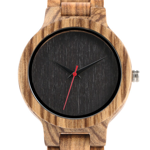 Wooden Watch, Handmade Full Wooden Quartz Watches Bracelet Clasp Natural Minimalism Watch, Bamboo Wristwatch Bracelet