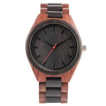 Natural Wood Watch, Men Causal Sandalwood Quartz Wristwatch, Simple Wood Strap Bamboo Wristwatch Bracelet