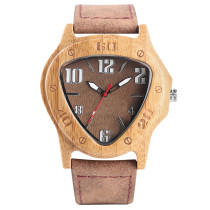 Wooden Watch, Simple Novel Nature Full Wood Watch Bamboo Quartz Watches, Handmade Wooden Clock Bamboo Wristwatch Bracelet