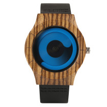 Watches for Men, Wooden Wrist Watches, Genuine Leather Strap Men Fashion Wooden Quartz Wristwatches
