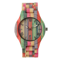 National Style Bamboo Wristwatch, Handmade Multiful Color  Bamboo Watch for Women Men, Casual Quartz  Bamboo Wristwatch