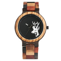 Watches for Men, Handmade Wooden Watch for Women Men Hand-made Wristwatch Natural Deer Head