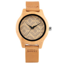 Wooden Watch, Unique Boho Style Bracelet Square Face Wooden Watch, Women Bamboo Female Clock Bamboo Wristwatch Bracelet