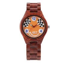 GT Men's Watch, Casual Wristwatch, Full Wood Watch with Mosaic Pattern Watch for Men Women